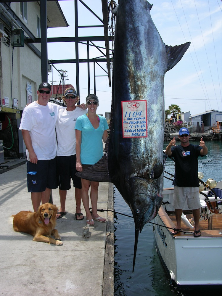 Angler Jill Anderson on Marlin Magic